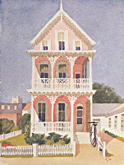 Pink House Print | Cape May Landmarks